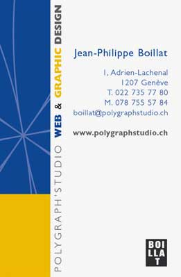 graphic design carte visite