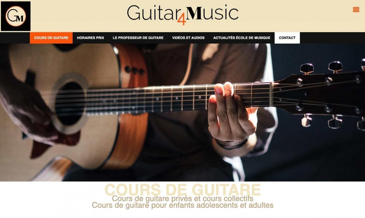 guitar4 music : une création site internet Polygraphstudio